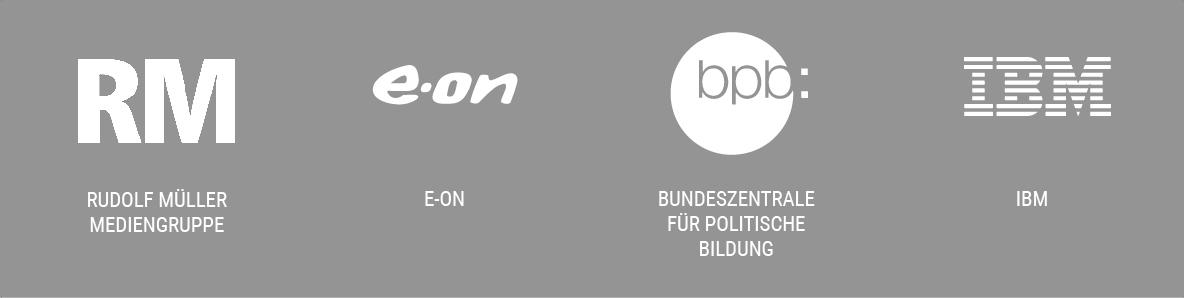 Slide mit 4 verschiedenen Logos